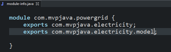 Java 9 Modules - module-info.java
