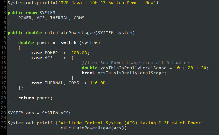Java JDK 12 switch expression