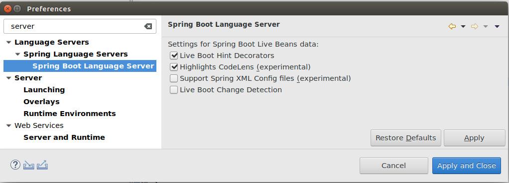 Spring Tool Suite 4 Code Decorators