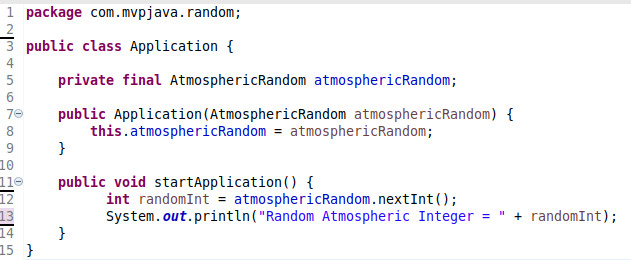 Atmospheric Random Application Class - MVP Java