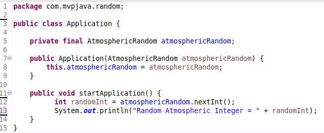 Atmospheric Random Application Class - MVP Java