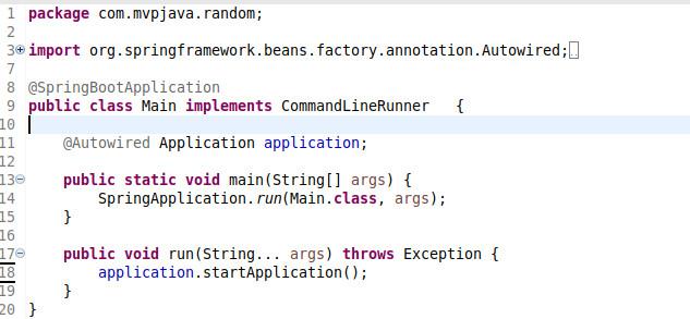 Atmospheric Random Main Class - MVP Java