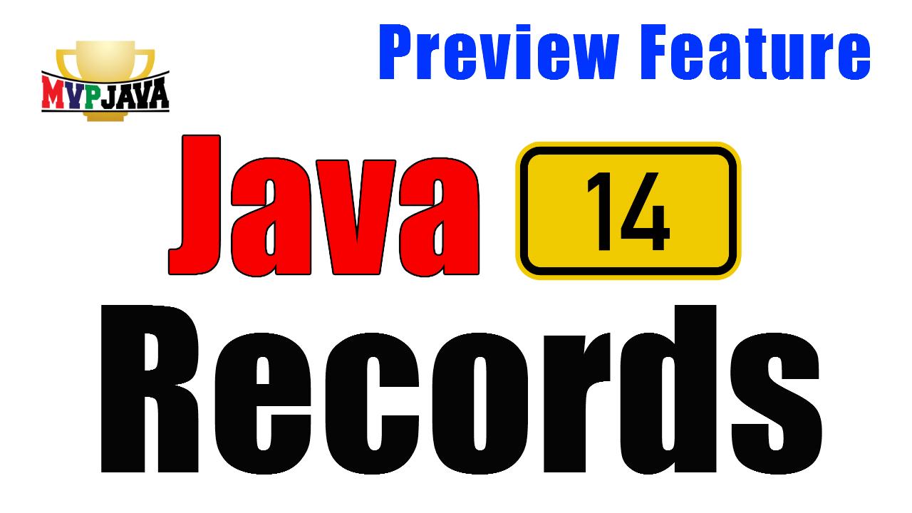 Java 14 Records - MVP Java