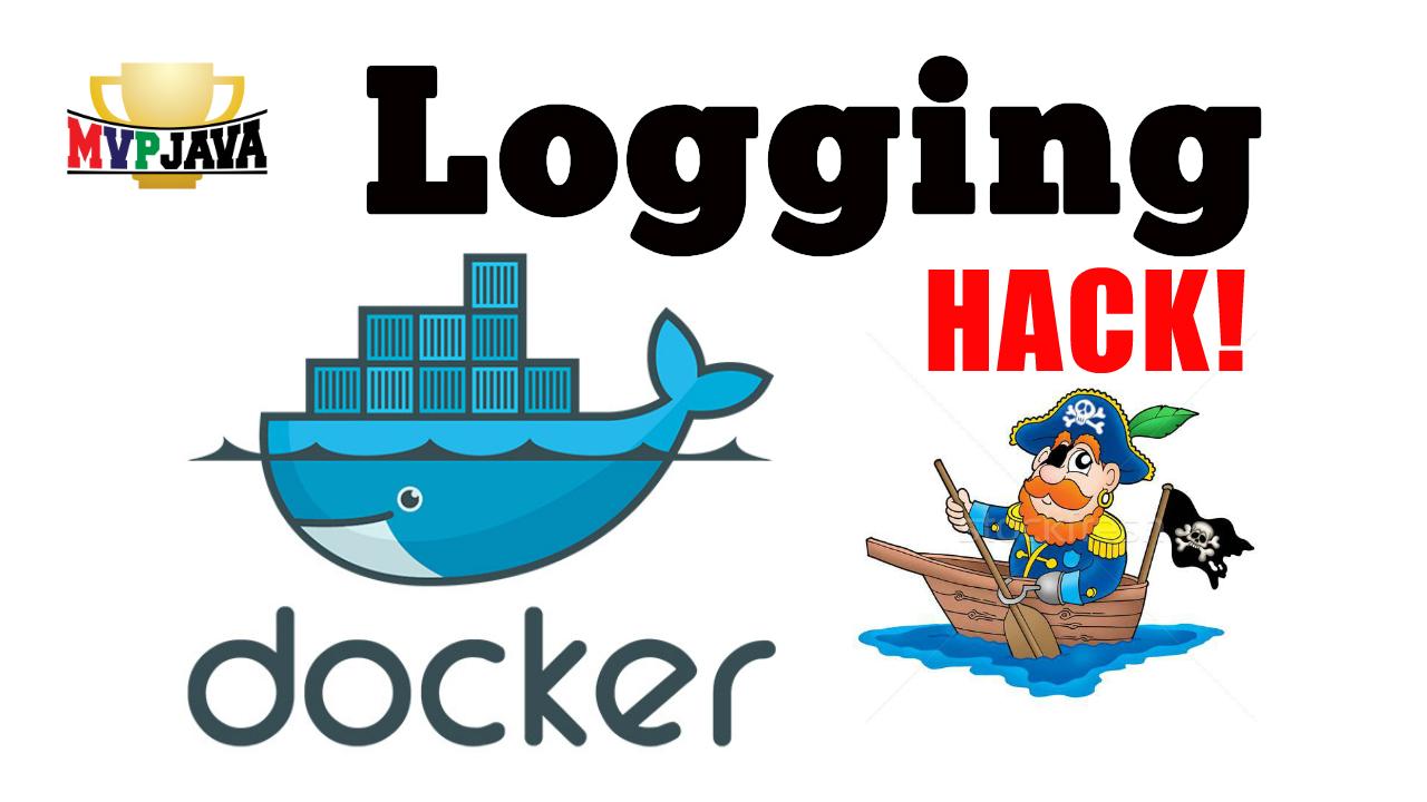 Docker logging symlink hack